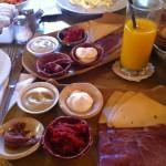 Israeli mezze` breakfast - Mmm...