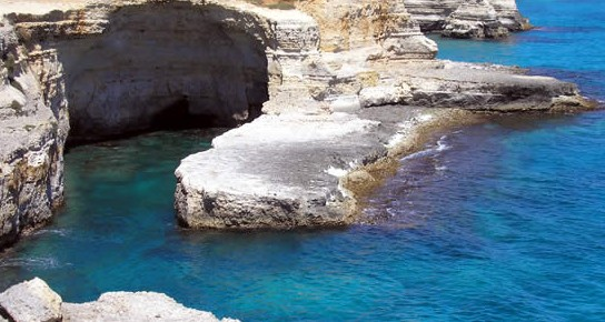 The craggy Puglia coastline