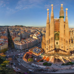 Sagrada Familia presides over Barcelona.