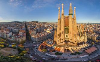 Sagrada Familia presides over Barcelona.