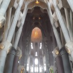 The interior of Sagrada Familia.