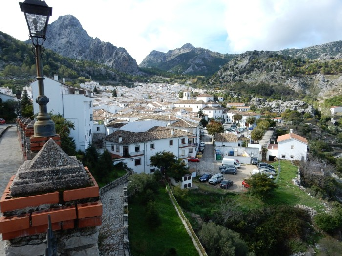 Picturesque Grazalema nestled amongst the craggy peaks.