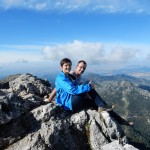 Ross & Alicia on top of the world!