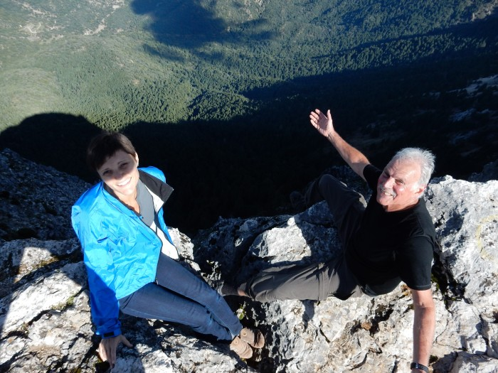 Sheer bravery - laughing on the edge of the precipice.