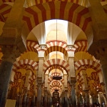 The interior of the Cordoba Mosque/Cathedral.