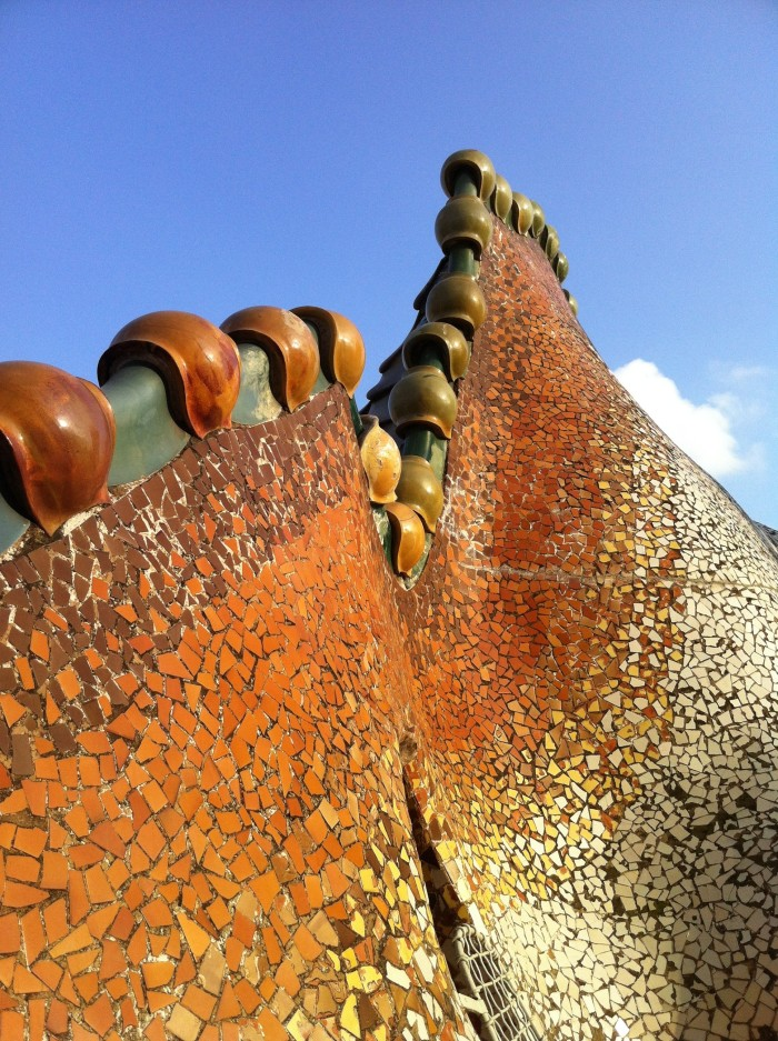 Tiled roof of Casa Batllo.