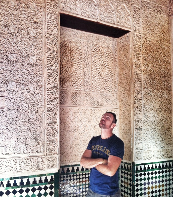 Ross taking in the Alhambra.